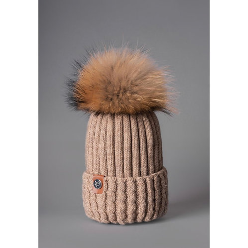 Luxy London - BOSTON cable knit Pom Pom hat