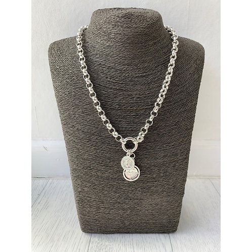 Big metal - Chunky coin necklace