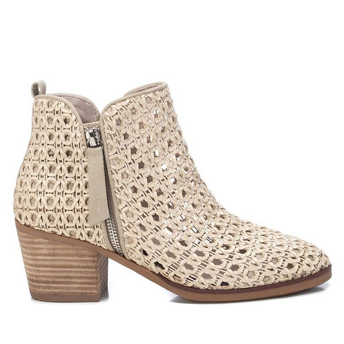 XTI - Woven  ankle boot -cream