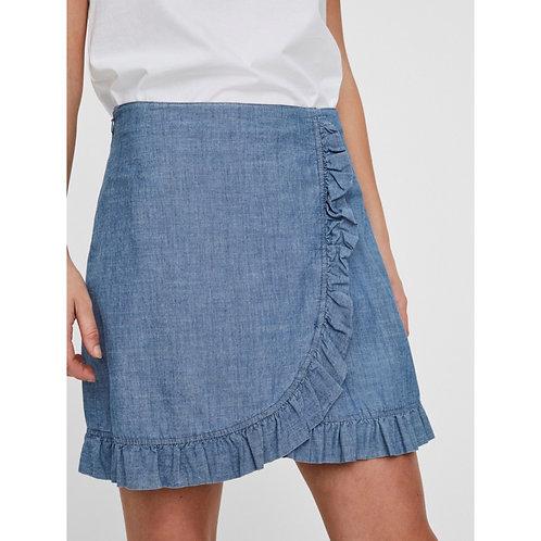 Vero Moda - Chambray frill skirt