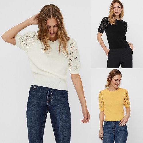 Vero moda - Lace sleeve knit