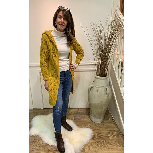 Chunky knitted cardi