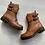 Thumbnail: Carmela - Tan leather biker  boots