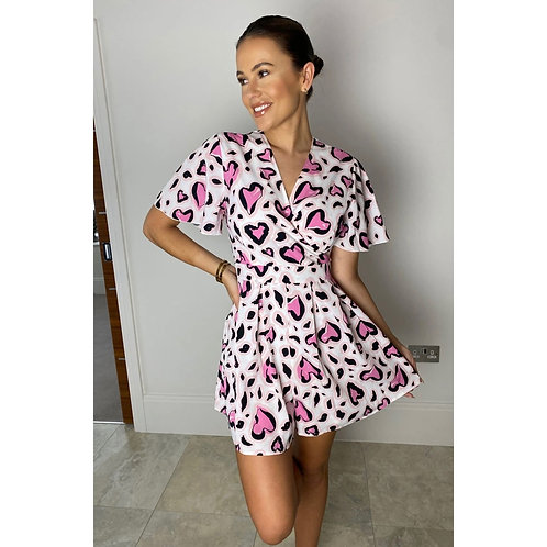 Girl in Mind - Heart print playsuit