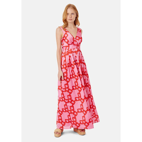 Traffic people 'Falls' printed maxi dress