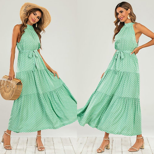 Polka dot dress - Mint
