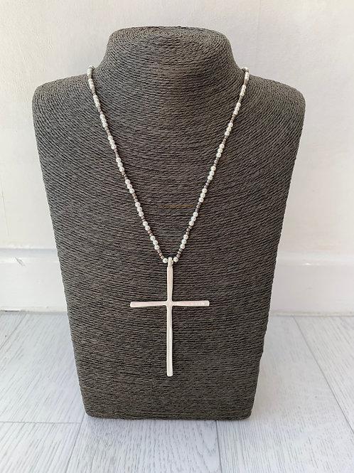 Envy - Long cross pendant necklace