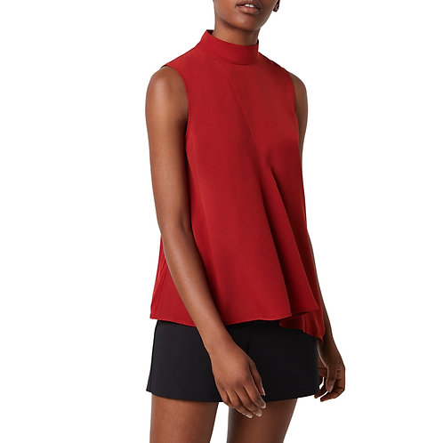 French Connection -  Sleeveless High neck top - Rust