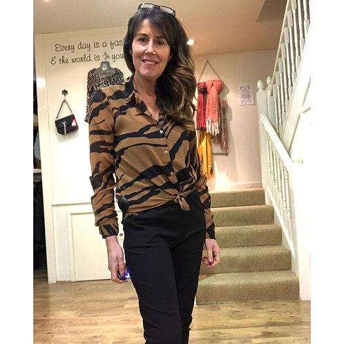 ICHI - Zebra print blouse