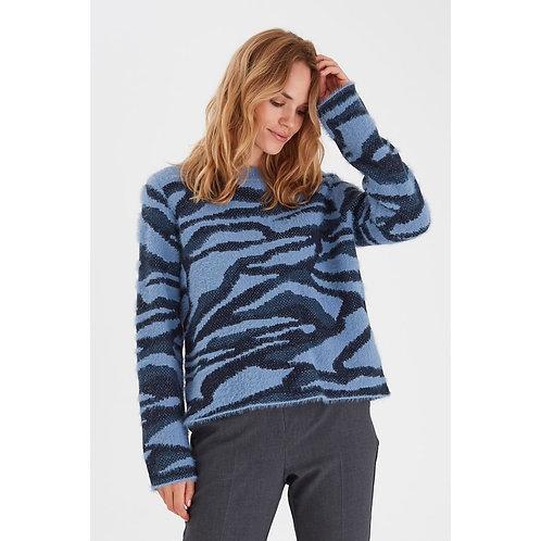 B.Young - Fluffy zebra print jumper