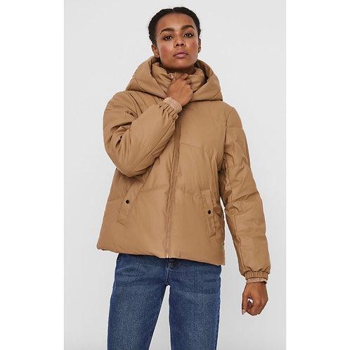 Vero Moda - Short leatherette puffa coat