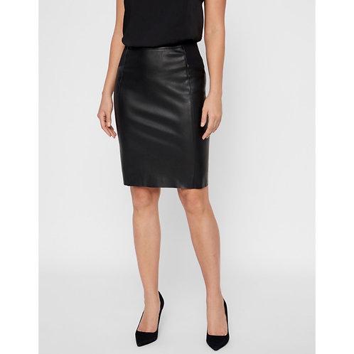 Vero Moda - Faux leather midi skirt