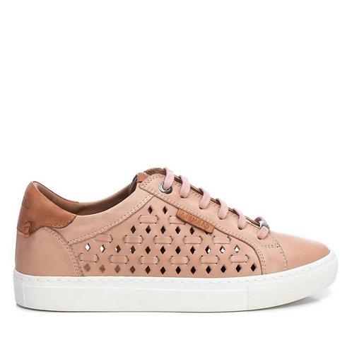 Carmela - 67826- Lace up soft leather trainer - Blush Pink