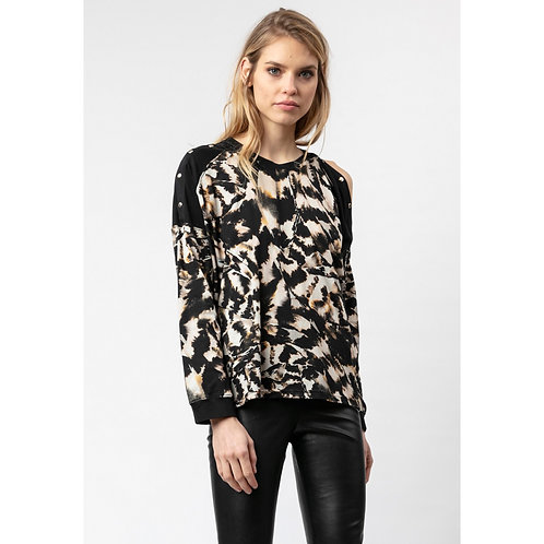 Religion - Printed popper detail top