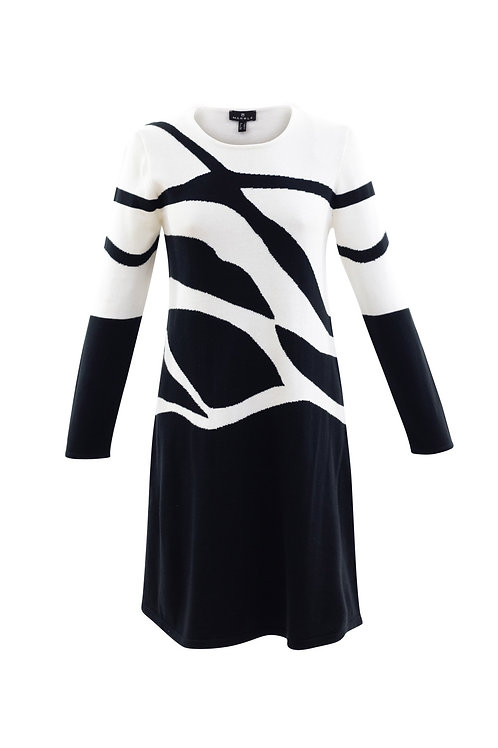 Marble 5902 monochrome knitted dress