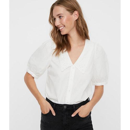 Vero Moda - Collared puff sleeve shirt