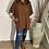 Thumbnail: Cowl neck soft fleece feel oversized top