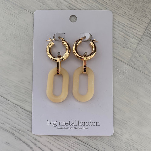 Big metal - Chunky hoop drop earrings