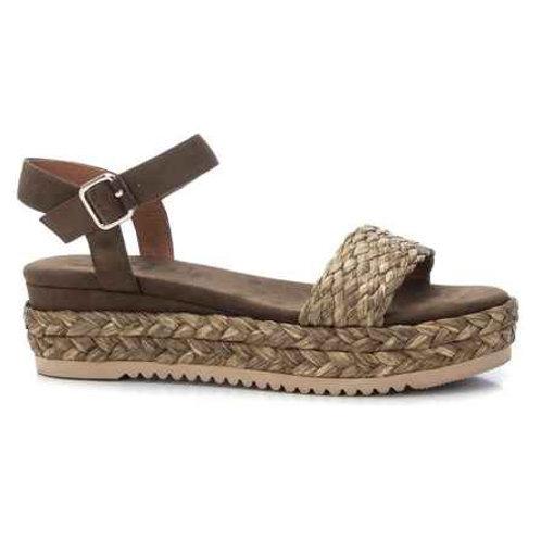 XTI - Raffia effect strap sandals