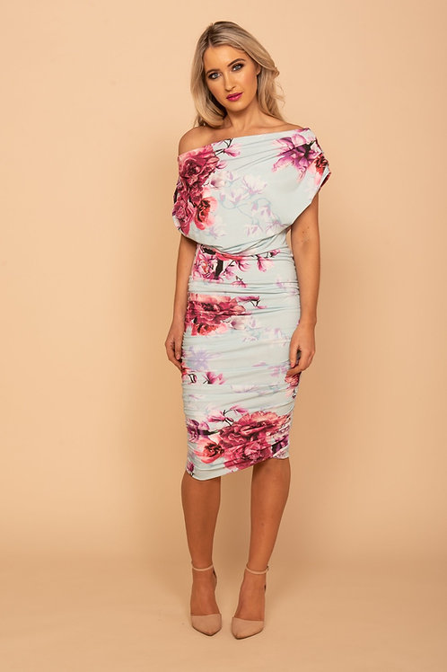 ATOM LABEL - Oxygen floral dress - Mint