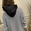 Thumbnail: Striped hooded sweat