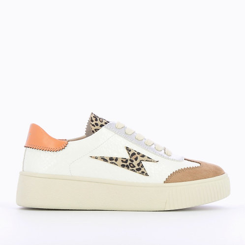 Vanessa Wu - Leopard lightning sneakers with laces
