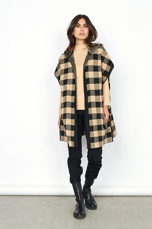 Soya Concept  - TABIA - Checked hooded cardi
