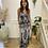 Thumbnail: Geometric print maxi dress