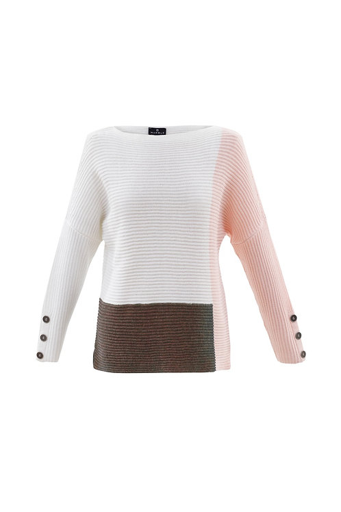 Marble 5926 ribbed block colour jumper