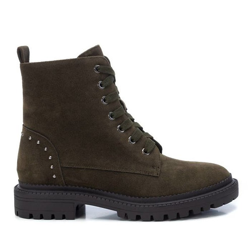 XTI - Khaki faux suede military boot