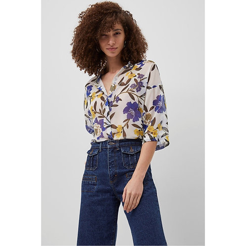 French Connection - Floral sheer shirt