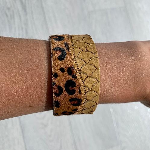 Leopard/Snake cuff bracelet