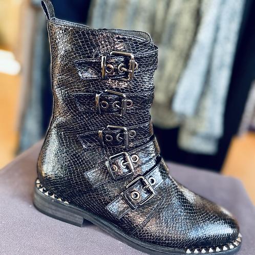 Vanessa wu leather biker style boot