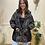 Thumbnail: Oversized camouflage zip detail coat