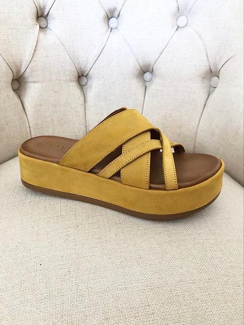 Carmela - Yellow slip on sandal