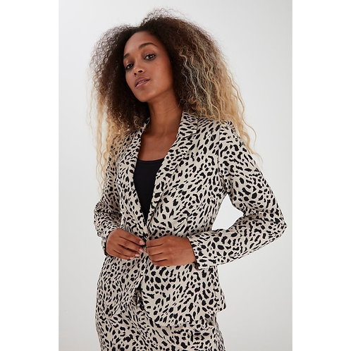 B.Young - 'RIZETTA' Leopard print blazer