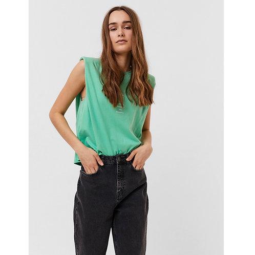 Vero Moda - Shoulder pad slogan t.shirt