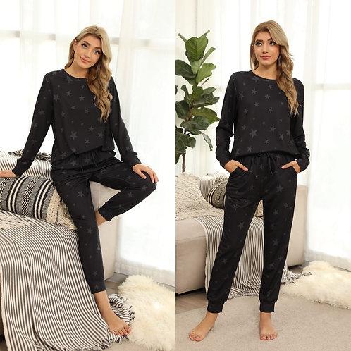 Star print pj's / Loungewear sets