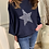 Thumbnail: Over sized fine knit star slouch top