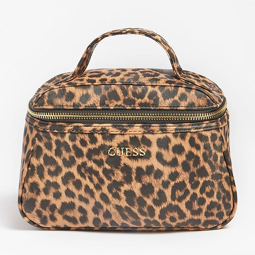 GUESS - LALIE ANIMALIER VANITY CASE