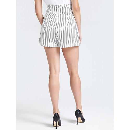 a4f7648290494 Stripe corset tie detail high waist shorts Viscose blend shorts. High  waist. Regular fit. Zip fastening at the back. Corset detail at the front.