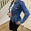 Thumbnail: Denim frill bottom jacket