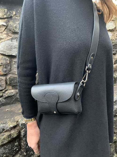 Real leather cross body bag
