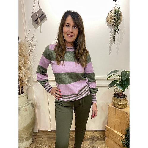 ICHI - DEN - Stripe jumper