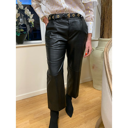 Mac - Faux leather Culotte trousers
