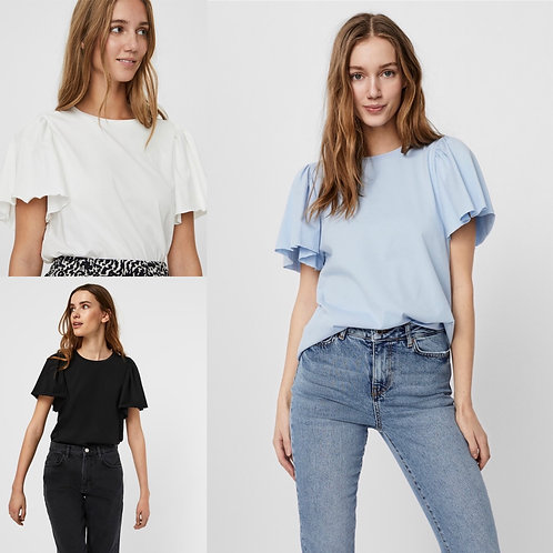 Vero Moda - Frill Sleeve T.Shirt