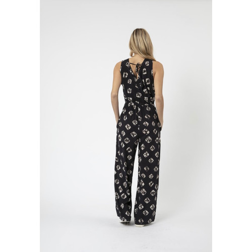 12ab3381e57 Religion - Printed tie waist jumpsuit - Black