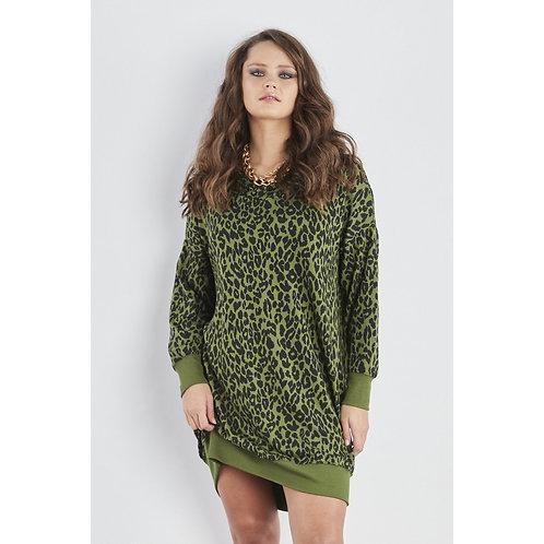 Sundae Tee - 'ALANNA' Animal hooded sweater dress