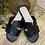 Thumbnail: 'H ' style flat black slider (faux leather )