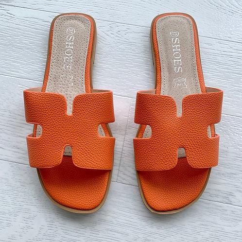 'H' sandal - Orange